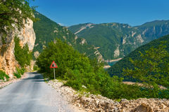 Road in the park Durmitor Stock Photos