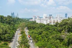 Road Park In Singapore. Stock Photos