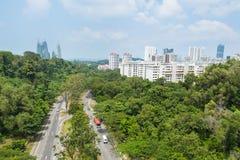 Road Park in Singapore. Stock Photos