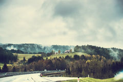 Road passing through the mountainous part of Royalty Free Stock Image