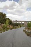 Road passing under a railway bridge Stock Photos