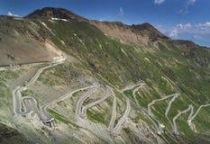 Road at Passo dello Stelvio in the Alps, Italy Stock Photo