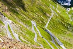 Road at Passo dello Stelvio. In Alto Adige, Italy Stock Photos