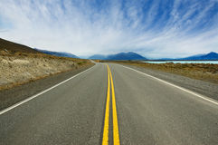 Road in Patagonia, Argentina. Royalty Free Stock Photos
