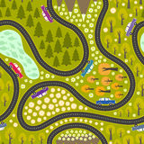Road pattern with cars Royalty Free Stock Photography