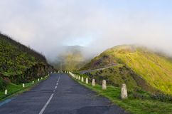 Road on Paul da Serra plateau, Madeira, Portugal Stock Photo