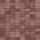 Road Paved with Dull Red Bricks Seamless Texture Stock Image