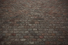 Road paved with stone Stock Images