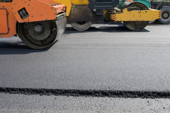 Road paving construction Stock Images