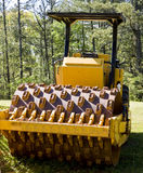 Road Paving Equipment in Forest Stock Images
