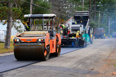 Road paving and rolling Stock Image