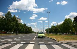 Road pedestrian crossing Royalty Free Stock Photo