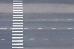 Road with pedestrian crossing Royalty Free Stock Photography