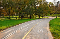 Road for pedestrians and bicycles Royalty Free Stock Photos