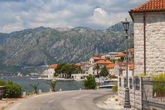 Road in Perast, Bay of Kotor, Montenegro Stock Image