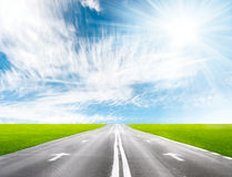Road perspective Royalty Free Stock Photos