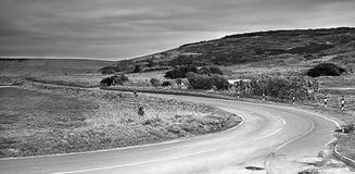 road with black and white Royalty Free Stock Images
