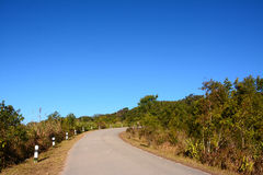 Road on Phu Rua mountain Stock Photo