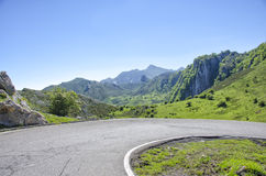Road in Picos de Europa in Asturias,spain Stock Photo