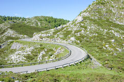Road in Picos de Europa in Asturias,spain Stock Images