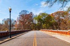 Road in Piedmont Park, Atlanta, USA Royalty Free Stock Photography