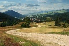 Road in Pieniny National Park. The Pieniny Mountains in Poland Stock Photos