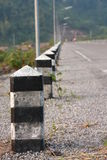 Road pillar. The row of pillars on the road Royalty Free Stock Image