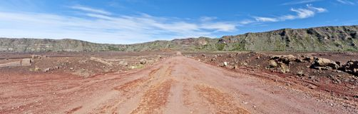 Road of the Plaine des Sables Royalty Free Stock Photography