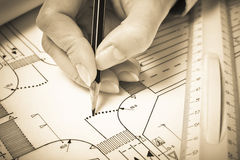 Road planning Royalty Free Stock Photography