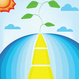 Road. This plant is final the road Stock Image