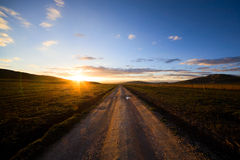A Road on plateau Royalty Free Stock Images