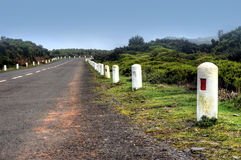 Road in Plateau of Parque natural de Madeira, Made Royalty Free Stock Photography