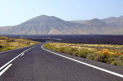 The road in Playa Blanca - Lanzarote. Stock Images
