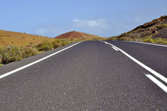 The road in Playa Blanca - Lanzarote. Royalty Free Stock Image