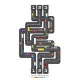 Road point information vector illustration