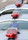 Road police flashers Royalty Free Stock Images