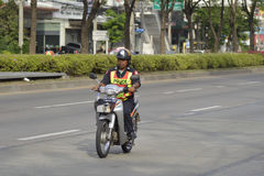 Road police on motorbike Royalty Free Stock Photo