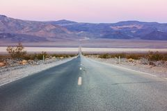 Road in prairie royalty free stock photography