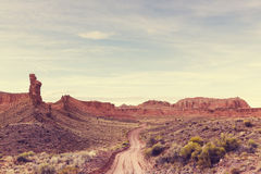 Road in prairie Royalty Free Stock Image