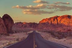 Road in prairie Stock Image