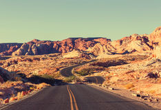 Road in prairie Royalty Free Stock Images