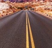 Road in prairie Stock Photos