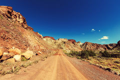 Road in prairie Stock Photography