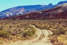 Road in prairie Stock Photo