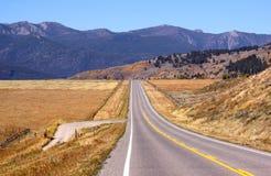 Road through Prairies Stock Photos