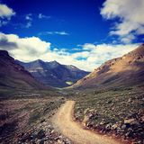 Road. The road of prayer in Tibet Stock Photography
