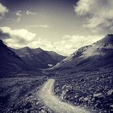 Road. The road of prayer in Tibet Royalty Free Stock Photos