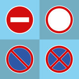 Road prohibitory signs Stock Photos