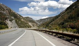Road through Provo Canyon Stock Photo