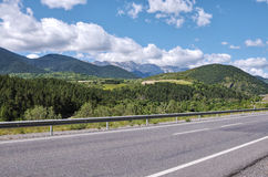 Road in Pyrenees Mountains Stock Images